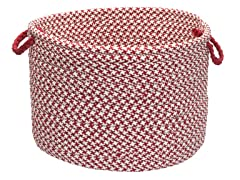 Houndstooth Storage Basket - Sangria (2 Sizes)