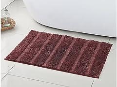 Stripe Plush Bath Rug- 2 Colors