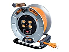 MasterPlug 50' Metal Extension Cord Reel