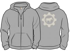 """Ass in Gear"" Zip Hoodie"