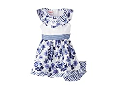 Blue Floral Knit Dress (12-24M)