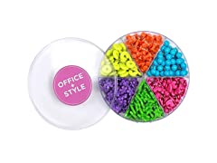 Office + Style Shaped Push Pins - 3 Pack