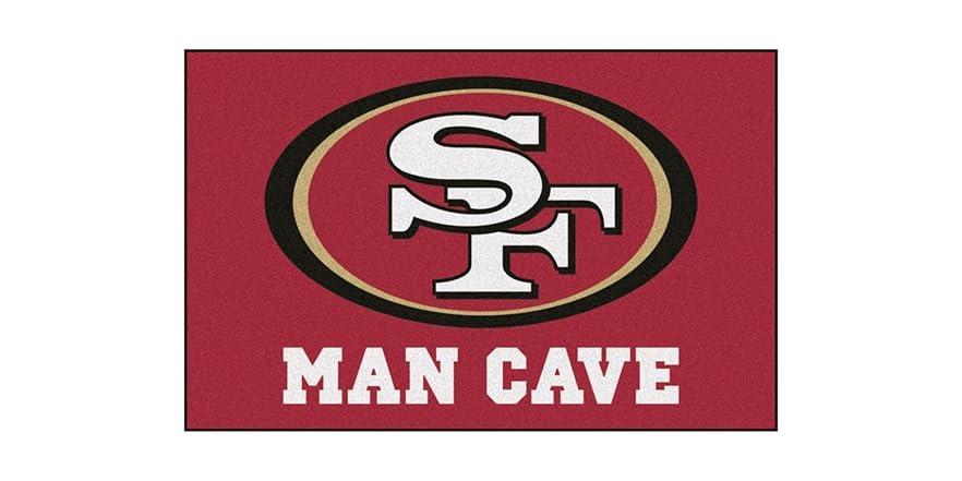 Man Cave Signs Nfl : Nfl man cave starter rugs