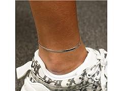 Sterling Silver Herringbone Anklet