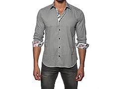 Jared Lang Dress Shirt, Black/White