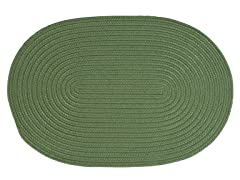 Moss Green Braided-Texture Rugs