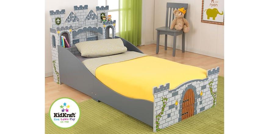 KidKraft Medieval Castle Toddler Bed In 2-Colors