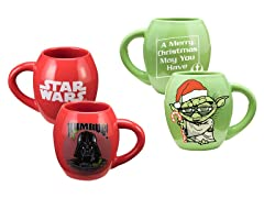 2pc SW Oval Holiday Mug 18oz Set