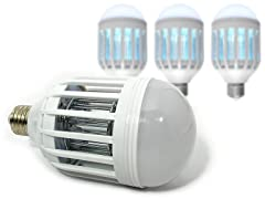 4-Pack Mosquito & Pest Control LED Bulbs