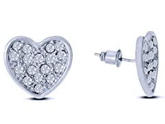 Swarovski Elements Heart Earrings