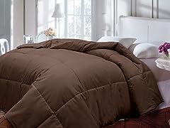 Down Alternative Comforter-Chocolate-2 Sizes