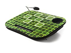 Laptop Cushion w/ Light - Green/Black