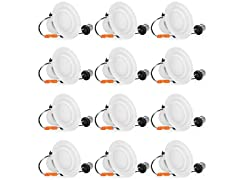 "SHINE HAI 4"" LED Recessed Lighting, 12-pk"