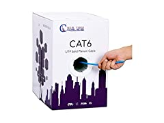 CAT6 Plenum (CMP) 1000ft Ethernet Cable