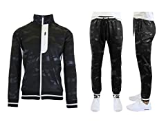 Mens Camo Tech Stretch Jogger & Hoodie