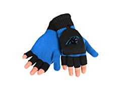 Carolina Panthers Logo Flip Top Glove