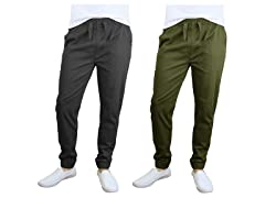 Men's Cotton Stretch Twill Joggers 2Pk