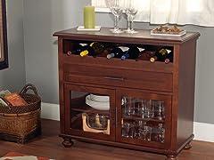 Tivoli Wine Cabinet- Chestnut
