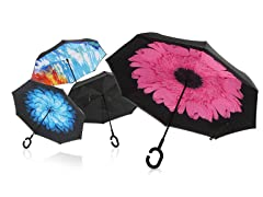 Wind-Proof, Reverse Opening Umbrella