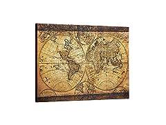 Decor MI Vintage World Map Canvas Wall Art
