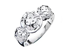 Sterling Silver 3-Lady Bugs Ring