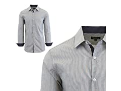 GBH Men's LS Micro Pinstripe Dress Shirt