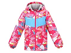 Children's Arctic Paw Ski Jacket Crimson