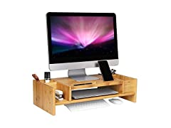 SONGMICS Monitor Stand with Adjustable Storage Organizer