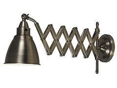 Accordion Swing Arm Lamp- Antique Nickel Finish