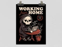 """""""Working From Home?"""" Matte Poster"""