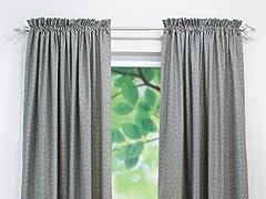 Interlochen Rod Pocket Curtain Panel-Grey-3 Lengths