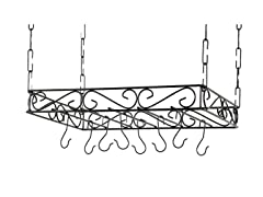 "Iron Pot Rack 16""x24"" - Black"