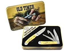 Old Timer Scrimshaw 2 Piece Set