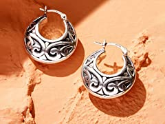 Sterling Silver Handcrafted Hoops