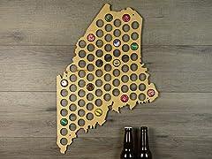 Beer Cap Map: Maine
