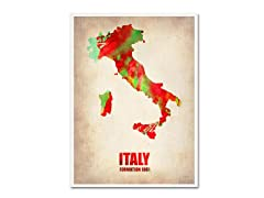 Naxart 'Italy Watercolor Map' Canvas Art- 2 Sizes