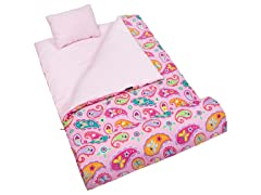 Wildkin Sleeping Bag - Kids Paisley