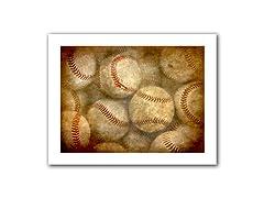 Baseballs 14x18 Rolled Canvas