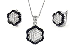 Black/White Flower Set