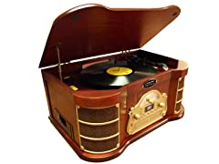 Classical Turntable w/ AM/FM Radio/CD/USB Recording