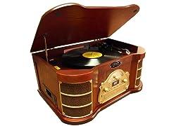 Classical Turntable w/ AM/FM Radio/CD/USB Recording