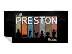 Visit Sunny Preston Idaho! Beach Towel