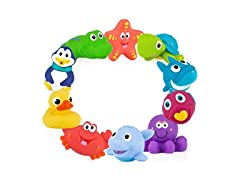 Nuby 10 Count Little Squirts Bath Toys