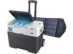 ACOPOWER 42-Quart Solar Freezer + Solar Panel Kit