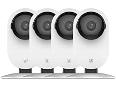 YI Wi-Fi 1080p Home Camera - 4 Pack
