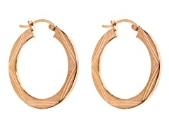 Sterling Silver Flat Finish Hoops