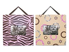 Sweet Safari Pink 2-Piece Frame Set