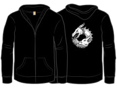 """Of Ice and Fire"" Black Jersey Zip"
