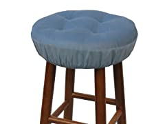 "Gripper® 14"" Barstool Covers-Pinwale-Blue S/2"