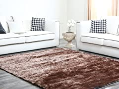 Brown Plush Shag Rug